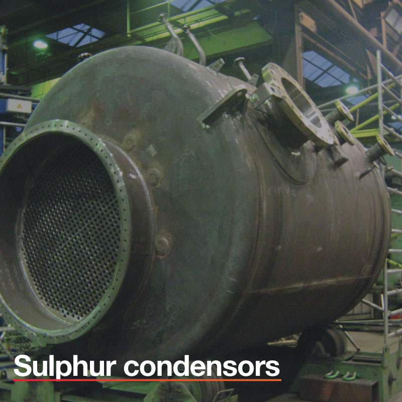 Sulphur-condensors